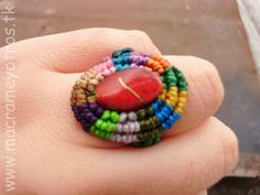 Que buenisima idea  Anillo Macrame  Macrame Ring