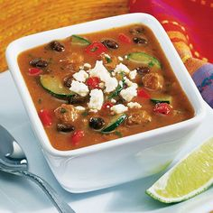 Enchilada Soup.  Shop now or join my team @ www.pamperedchef.biz/jmenting Join me on Facebook for more recipes, tips and ideas: https://www.facebook.com/JenniferMentingsPamperedChefPage/. Contact me to get some FREE. Enchilada+Soup+-+The+Pampered+Chef®
