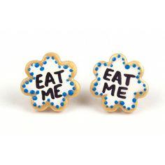 Eat Me Biscuit Earrings