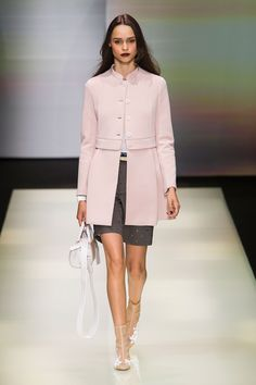 Such a sweet coat! Emporio Armani SS16