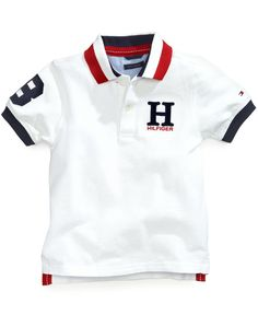 Tommy Hilfiger Little Boys Matt Polo - White 7 Boys Summer Outfits, Baby Boy Outfits, Kids Outfits, Mens Polo T Shirts, Boys T Shirts, Tommy Hilfiger Toddler, Camisa Polo, Baby Clothes Shops, Big Boys