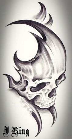 Skull Tattoo Design Tattoo Alien Old School Skull Tattoo Design, Skull Tattoos, Body Art Tattoos, Tribal Tattoos, Tattoo Designs, Tatoos, Pencil Art Drawings, Art Drawings Sketches, Tattoo Drawings