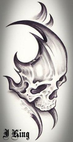 Skull tribal by TheLob on DeviantArt  slick shit  Pinterest  Schablone Rehgulasch und