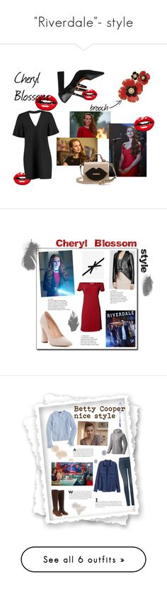 """""""""""Riverdale""""- style"""" by spencer-hastings-5 ❤ liked on Polyvore featuring Boohoo, Dana Buchman, Velvet by Graham & Spencer, Call it SPRING, H&M, J.Crew, NYDJ, Mountain Hardwear, Pedro García and RED Valentino"""