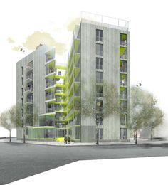 Coll Leclerc . Complejo de viviendas ancianos  . Barcelona  plataforma arquitectura (0)