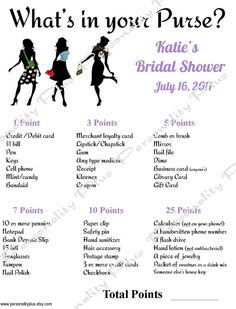 DIY Personalized Printable Chic Bridal Shower Games. 2 Quick Downloads.  Print as many as needed.. $4.50, via Etsy.
