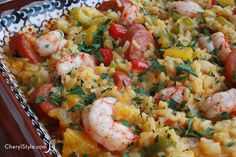 I think I might make this for #dinner tonight! Spicy Cajun #casserole with shrimp and andouille sausage recipe! #whatsfordinner