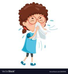 Of child diseases Royalty Free Vector Image - VectorStock Health Activities, Activities For Kids, Gift Bouquet, Kids Nutrition, Nutrition Education, Vector Free, Preschool, Clip Art, Cartoon