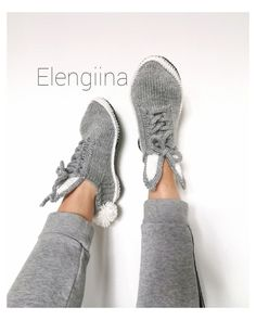Knit Crochet, Photo And Video, Knitting, Sneakers, Instagram, Fashion, Tennis, Moda, Slippers