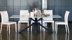 Home :: Furniture :: Dining :: Dining Tables :: Montana Marble Dining Table