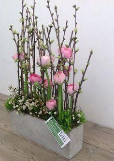 Fleurig parallel bloemstuk