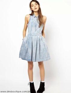 Vestido Jeans Curto - Vestidos | DMS Boutique