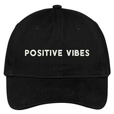 Trendy Apparel Shop Positive Vibes Embroidered Brushed Cotton Adjustable Cap  Dad Hat Baseball Caps For Sale f8977890aef4