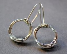 Circular Hoop Sterling Silver Earrings