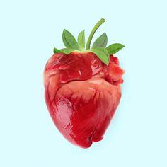 Strawberry heart - Paul Fuentes Design