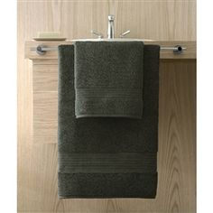 Kassasoft Supima by Kassatex, 100% Supima Cotton Bath Towels are soft, plush and absorbent. Supima cotton give unsurpassed durability.  Shown: Jade (Dark Green). Collection starting at $10.95