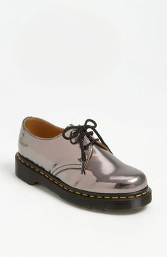 "One of my happiest style moments was buying my first pair of ""cherry reds"" at the Dr. Martens store in London in the early 90s. Despite the fact that I killed my feet breaking them in and that they don't come in half-sizes so my feet slide around a bit, DMs remain beloved faves. Dr. Martens 'Koram' Oxford available at #Nordstrom"