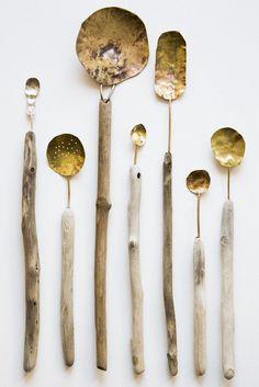 Deco 79 67724 Driftwood Glass Accent Table, x - Driftwood 4 Us Wooden Spoons, Vintage Design, Lost & Found, Wabi Sabi, Kitchen Utensils, Kitchenware, Metal Working, Decoration, Home Accessories