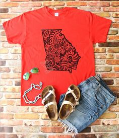 4027f2ce Items similar to Gameday Shirt, Go Dawgs, UGA, Unofficial, Georgia,  University of Georgia, Tailgate, Football, Zentangle, Mandala, Boho Shirt,  Gift for Her ...