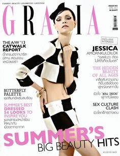 Covers of Grazia Thailand with Jessica Amornkuldilok, 958 2013 | Magazines | The FMD #lovefmd