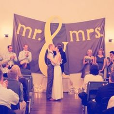 amazing backdrop. #wedding
