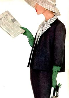 Love this image photo by Richard Avedon for Harper´s Bazaar, 1955. Green, black and white - just stunning together