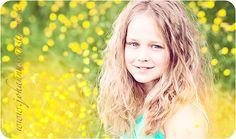 Girl - yellow flowers