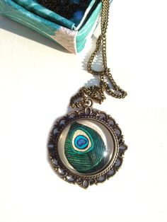 Peacock Feather Necklace  http://etsy.me/1yQeaYV