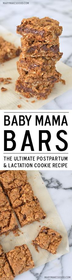 Baby Mama Bars, for Postpartum & Lactation. Yum!
