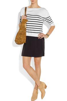 CLU|Striped wool-jersey and silk-blend dress|NET-A-PORTER.COM