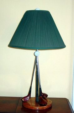 "Table Lamp - from ""25 New Uses for your Old Golf Clubs"""