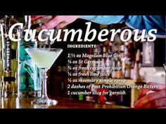 Cucumberous gin cocktail recipe by Josh Sullivan of Post Prohibition