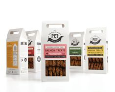 "Vancouver based Arithmetic was approached by a local dog bakery to update  their pet treat packaging. They were tasked with the challenge to rename,  reposition and overhaul the design aesthetic of a collection of dog cookies  that could simultaneously straddle both the ""gift"" the ""grocery"" market  categories."