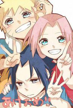 Anime: Naruto Personagens: Uchiha Sasuke, Haruno Sakura e Uzumaki Naruto Anime Naruto, Naruto And Sasuke, Anime Chibi, Naruto Uzumaki, Naruto E Sakura, Naruto Gaiden, Naruto Cute, Sarada Uchiha, Itachi