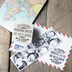 """Sello """"Los pequeños momentos son los que hacen grande la vida"""". Diseño de Mr.Wonderful. A la venta en: http://www.mrwonderfulshop.es"""