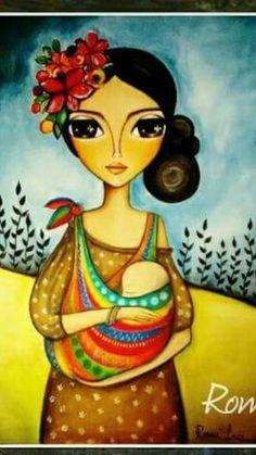 NUESTRO VIAJE Colorful Art, Art Painting, Indian Art Paintings, Art Drawings, Whimsical Art, Art, Painting Art Projects, Mom Art, Mexican Folk Art