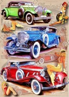 Stück) - For Isaac - Motorrad Vintage Cars, Antique Cars, Antique Signs, Retro, Rendering Art, Garage Art, Car Posters, Automotive Art, Armored Vehicles