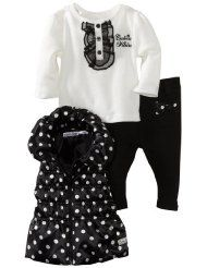 Calvin Klein Baby-girls Newborn Vest with Long Sleeve Tee and Pant