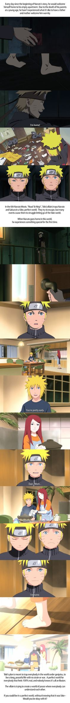 Road to ninja was one of my favorite movies from naruto and it pained my heart to see how much he had to endure
