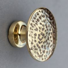 Hammered Antique Brass Cabinet Knobs  Drawer by YesterHomeUK