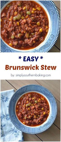 Easy Brunswick Stew to warm you up during the winter months.