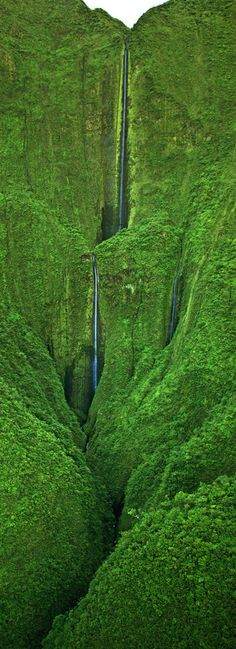 Honokohau Falls, Hawaii, USA Glory be to God Almighty! Places Around The World, Oh The Places You'll Go, Places To Travel, Places To Visit, Around The Worlds, Beautiful Waterfalls, Beautiful Landscapes, Wonderful Places, Beautiful Places