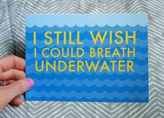 Being Able to Breath Underwater: Day 20 of the 30 Day PJ Challenge