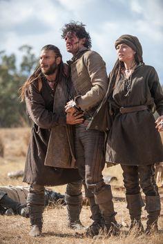 Black Sails - Anne Bonny and Jack Rackham with Charles Vane