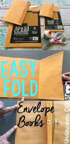 These envelope books are really cool! Each student just needs one large envelope. The inner pocket is great for holding flash cards.