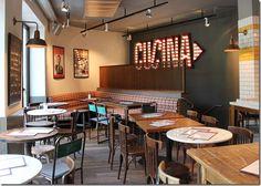 Cute Restaurant Italian Decor Concept Taco Interior Design