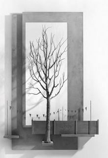 Hans Op de Beeck,Pennants, 2012 synthetic gypsum , wood, MDF, yarn, Nylon, plaster, concrete paste 125 x 85 x 33 cm