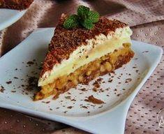 Obrácený jablkový koláč s pudinkovým krémem Czech Recipes, Ethnic Recipes, Sweet Cakes, Dessert Recipes, Desserts, Confectionery, Tiramisu, Cheesecake, Food And Drink