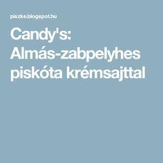Candy's: Almás-zabpelyhes piskóta krémsajttal
