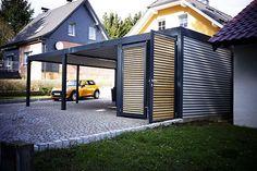 Design Metall Carport aus Holz Stahl mit Abstellraum Nürnberg ...